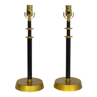 Restored Pair of 50's Table Lamps For Sale