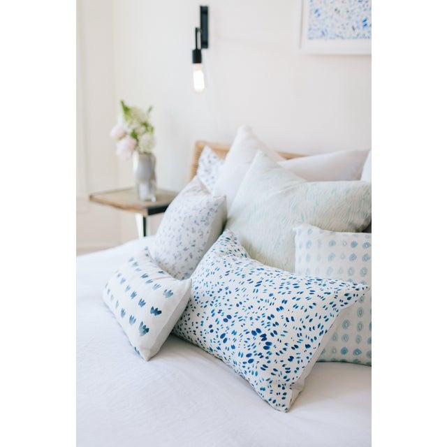 "Blue Kiwis Linen Pillow - 16"" X 20"" - Image 5 of 5"