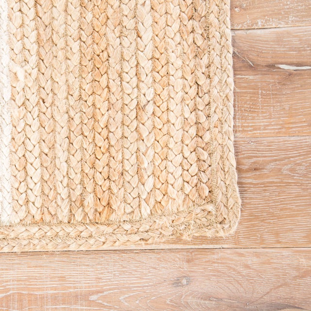 Contemporary Nikki Chu by Jaipur Living Aten Natural Trellis Beige/ White Area Rug - 9′ × 12′ For Sale - Image 3 of 6