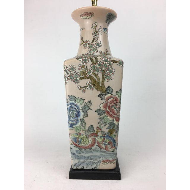 Late 20th Century 20th Century Japanese Crane Scene Vase Lamp For Sale - Image 5 of 6