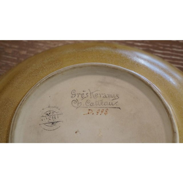 1920s Vintage Charles Catteau Wall Plate D.998 For Sale In Los Angeles - Image 6 of 7