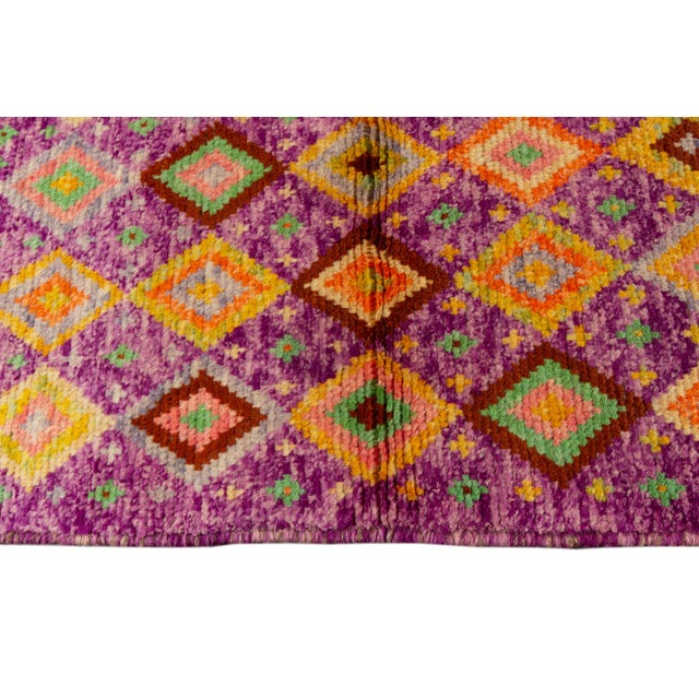 "Afghan Modern Gabbeh Rug, 2'9"" X 9'3"" For Sale - Image 3 of 10"