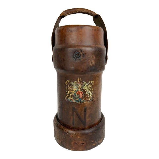 Early 19th Century Leather Ammunition Bucket For Sale