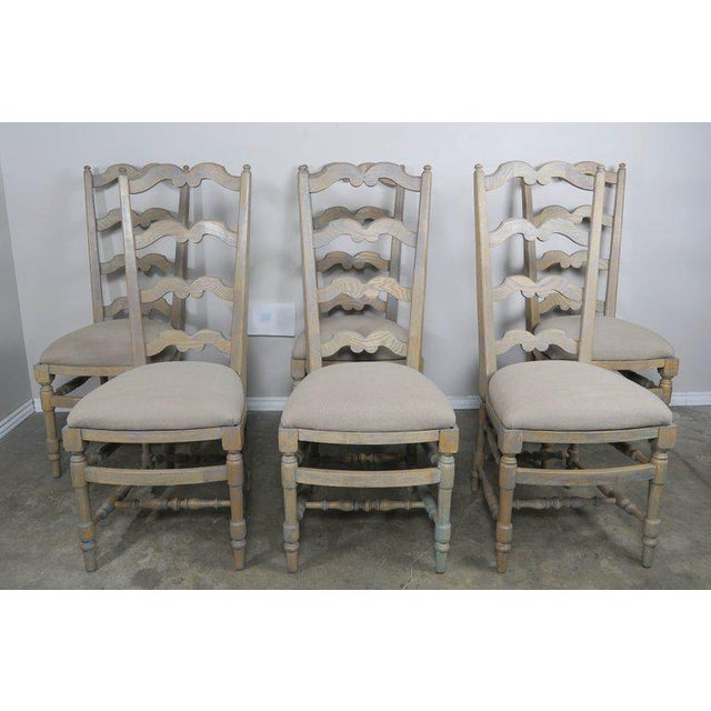 French Country Ladder Back Painted Dining Chairs Set Of 8 Chairish