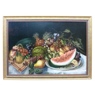 Late 19th Century Vintage American Still Life Painting For Sale