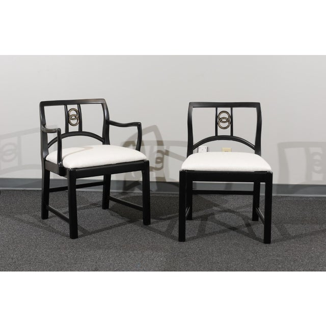 Wood Chic Restored Set of 6 Dining Chairs by Baker Furniture, circa 1960 For Sale - Image 7 of 13