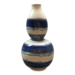 Striped Double Gourd Pottery/Vase