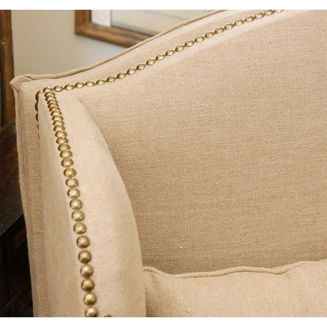 Mid 19th Century Early 19th Century French Chair and Daybed Upholstered in Belgian Linen For Sale - Image 5 of 10