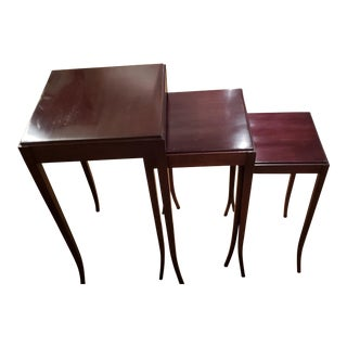 Traditional Baker Nesting Tables - Set of 3 For Sale