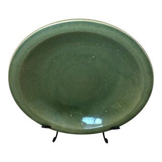 Modern Large Green Ceramic Charger For Sale