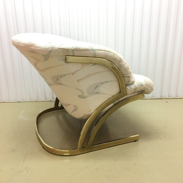 Milo Baughman Cantilever Brass Lounge Chair For Sale In New York - Image 6 of 7