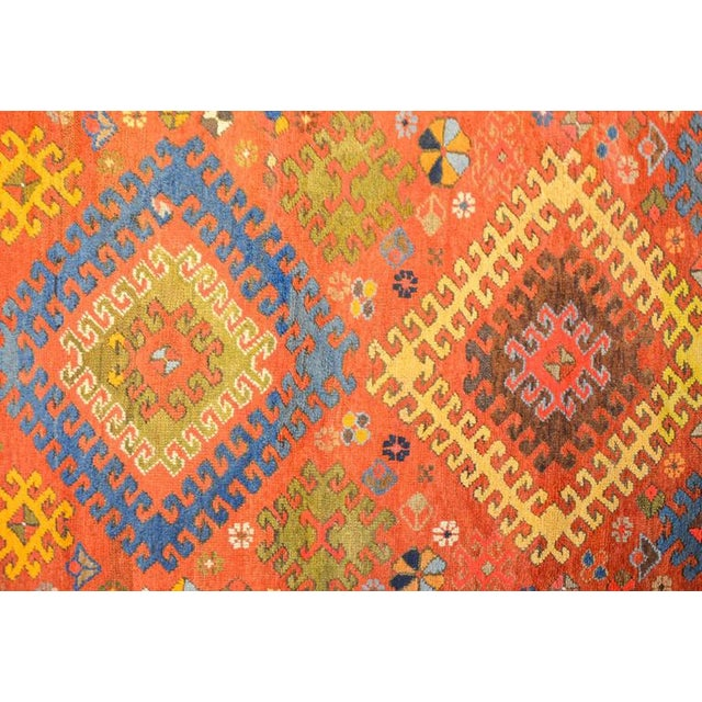 Traditional Early 20th Century Kazak Rug - 4′1″ × 5′7″ For Sale - Image 3 of 4