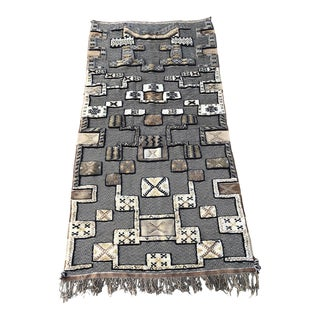 Mixed Pile and Flatweave Moroccan Rug For Sale