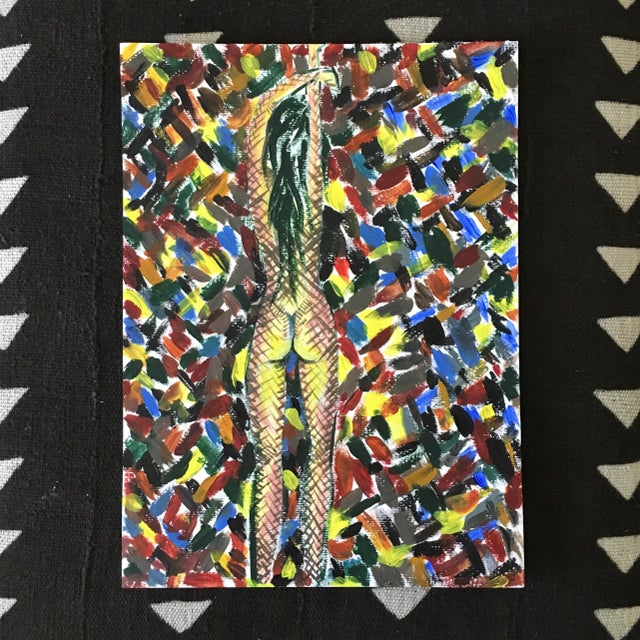 """""""Contained"""" Nude Abstract Postmodernism Painting - Image 2 of 3"""