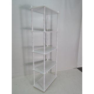 Vintage White Lacquer Etagere With 5 Shelves Preview