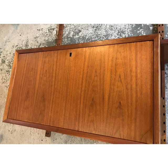 Mid-Century Modern Poul Cadovius Teak Cado Wall Unit Denmark For Sale - Image 3 of 13