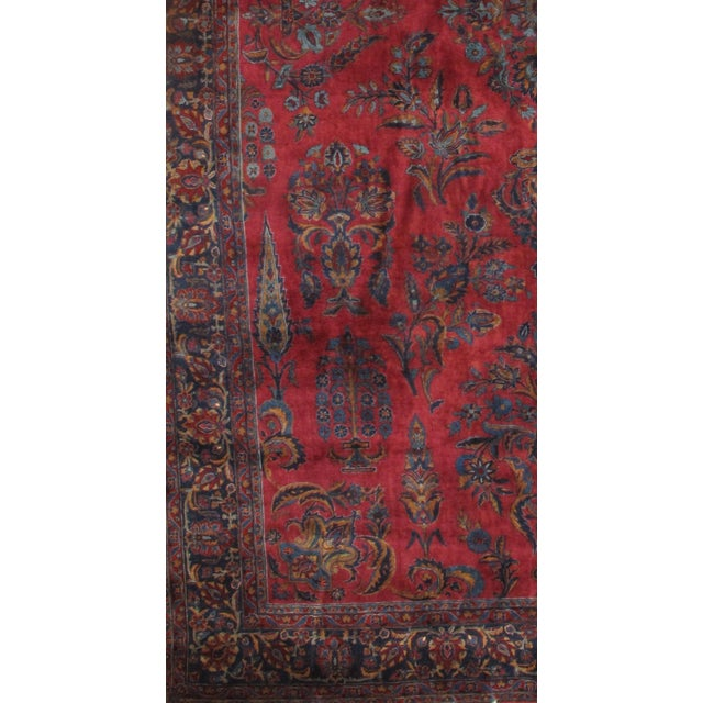 Antique Persian KASHAN rug. Handmade Hand-Knotted Lamb's Wool on a Cotton Foundation Hand-Spun Wool Rug Vegetable Dyed