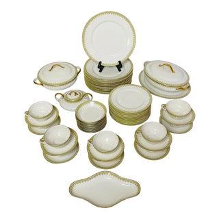 Wm. Guerin Limoges France Porcelain Dinner & Serveware Service for 10 - 59 Pc. Set For Sale