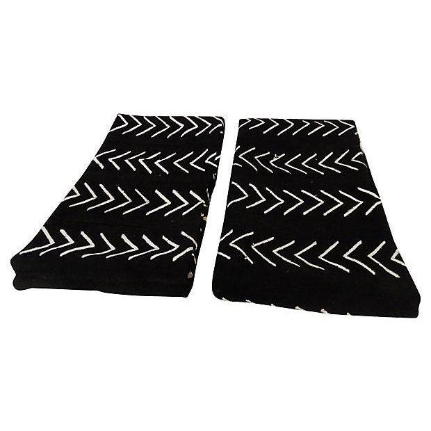 Malian Black & White Mud Cloth Textiles - A Pair - Image 3 of 9