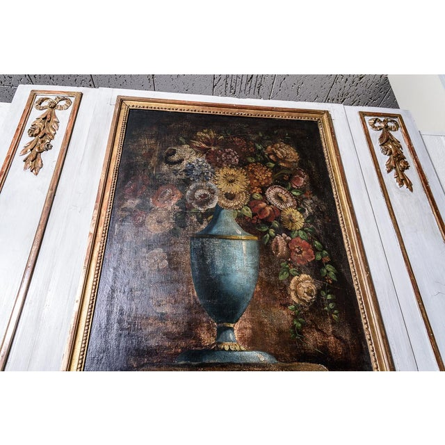 Antique Trumeau Mirror With Painting For Sale In West Palm - Image 6 of 8