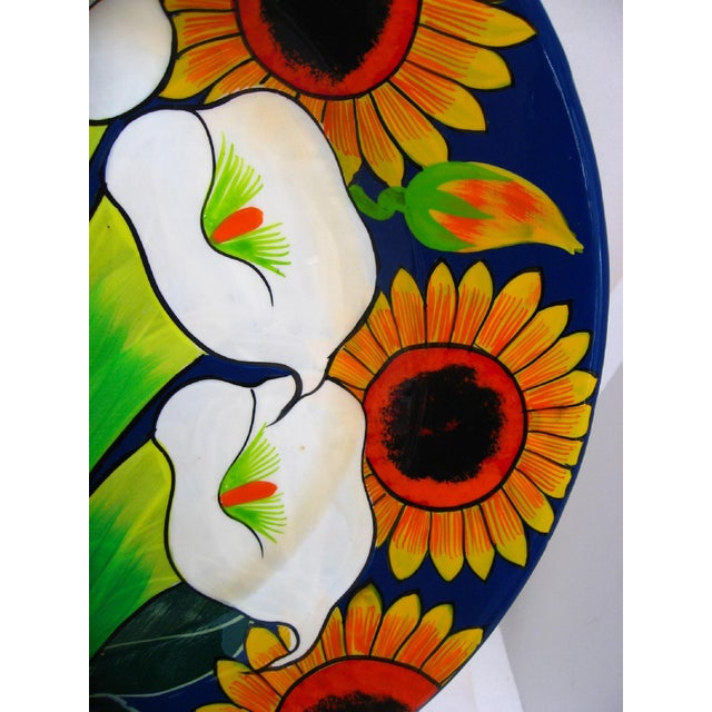 Large Mexican Ceramic Plate For Sale - Image 4 of 7