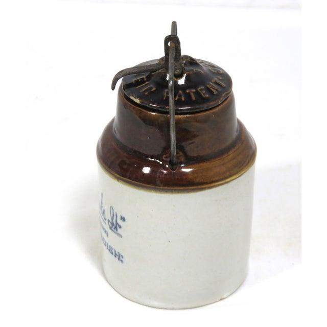 Antique American Stoneware Horsh Radish Jar For Sale - Image 4 of 13