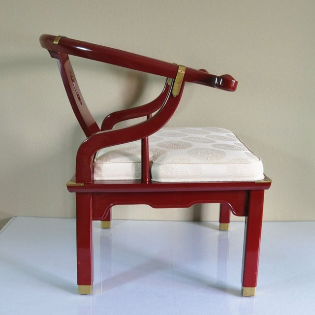 Century Red Lacquer Ming Chair - Image 3 of 8