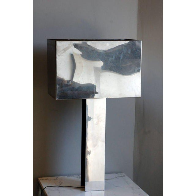 Metal Sculptural 1970s Chrome Table Lamp by Curtis Jere, Signed For Sale - Image 7 of 7