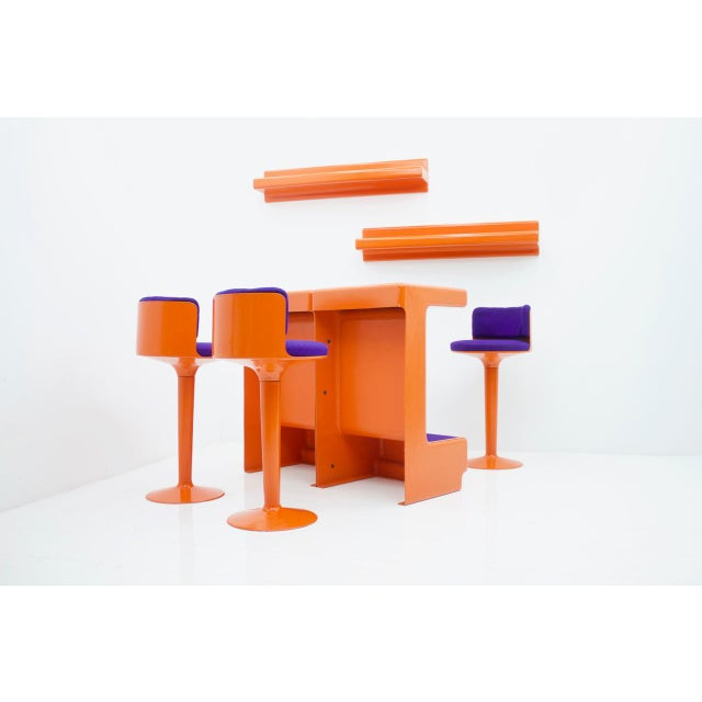 1970s Fiberglass Bar Set by Wolfgang Feierbach, Germany 1974 For Sale - Image 5 of 10