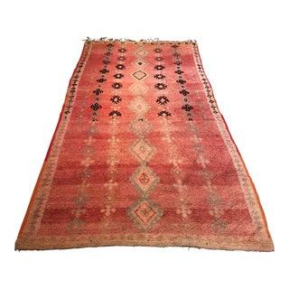 Vintage Moroccan Rug - 4′6″ × 8′6″ For Sale