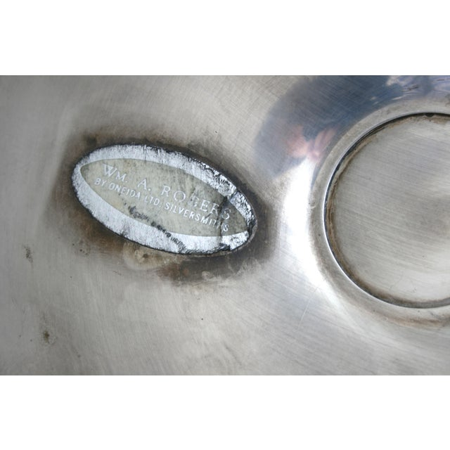 Mid 20th Century Oneida Wm. A Rogers Silver Chip and Dip Tray For Sale - Image 5 of 6
