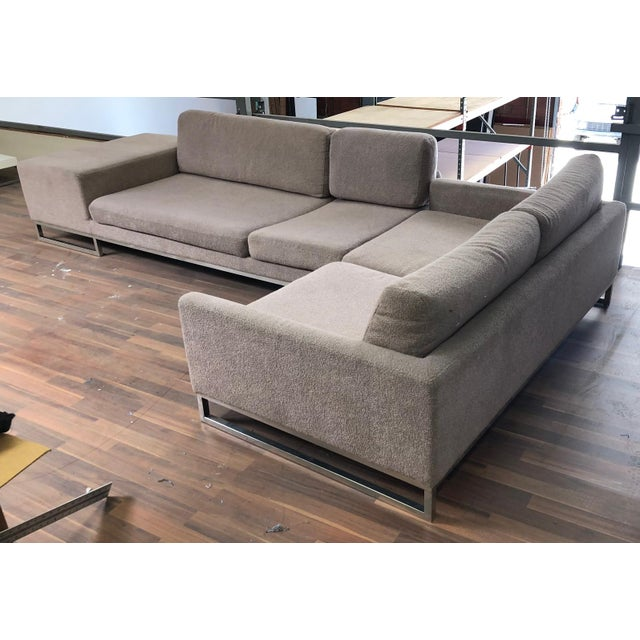 Ligne Roset Styled Sectional Modern Sofa With Chrome Base For Sale - Image 13 of 13