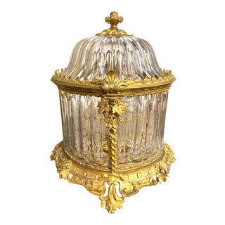 19th Century French Baccarat Dore' Bronze Tantalus For Sale