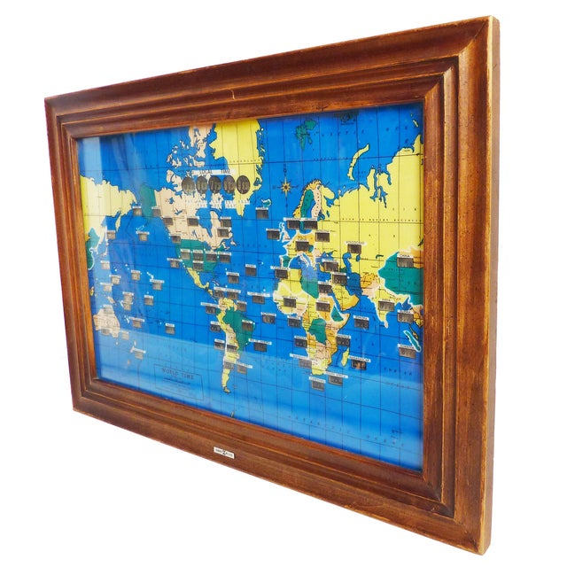 Howard miller world map wall clock chairish howard miller world map wall clock gumiabroncs Choice Image