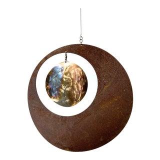 Mid-Century Modernist Steel Outdoor Kinetic Hanging Mobile Sculpture For Sale
