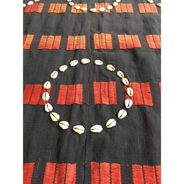 Vintage African Cowrie Shell Throw Blanket - Image 4 of 5