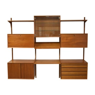 Mid-Century Modern Adjustable Wall Unit For Sale