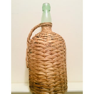 Large Vintage Demijohn Wicker Wrapped Bottle Preview