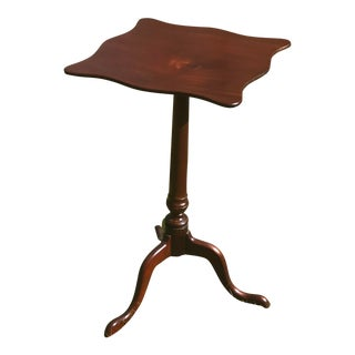1750s Mahogany Snake Foot Candle Stand For Sale