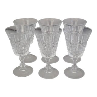 Vintage French Crystal Sherry Glasses S/6 For Sale