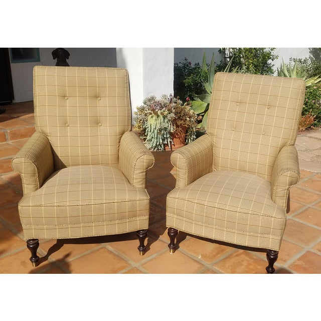 Traditional Club Chairs by Mitchel Gold - a Pair For Sale - Image 11 of 11