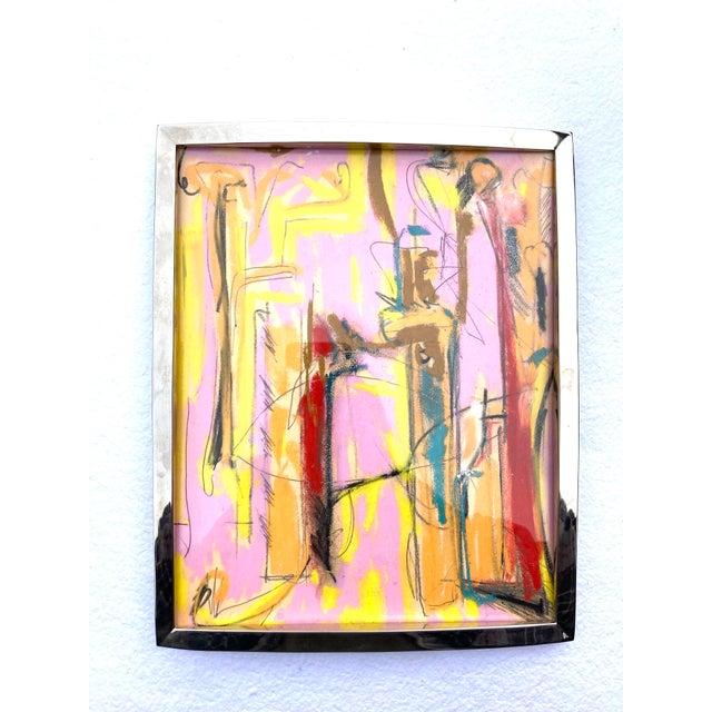 Erik Sulander Contemporary Abstract Pastel Sketch Drawing by Erik Sulander, Framed For Sale - Image 4 of 4