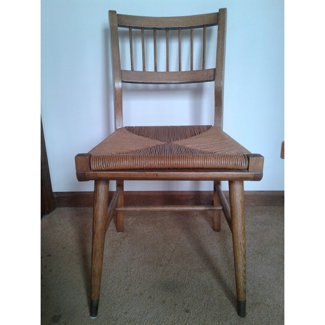 This simple little chair is a knockout! Fantastic chair that I believe is made by Craddock. It is reminiscent of Hans...