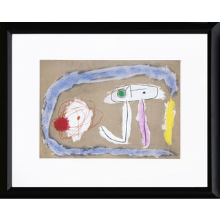 """Cartones 8: Personnage"" Framed Lithograph by Joan Miro For Sale"