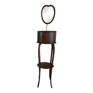 1900s Rockford Frame & Fixture Co. Antique Shaving Stand With Mirror For Sale
