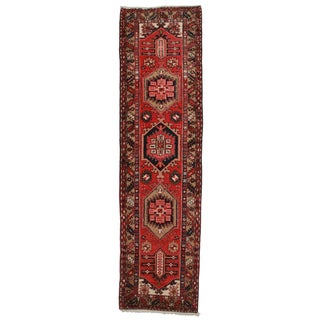 RugsinDallas Antique Persian Gharajeh Wool Runner- 3′ × 11′2″