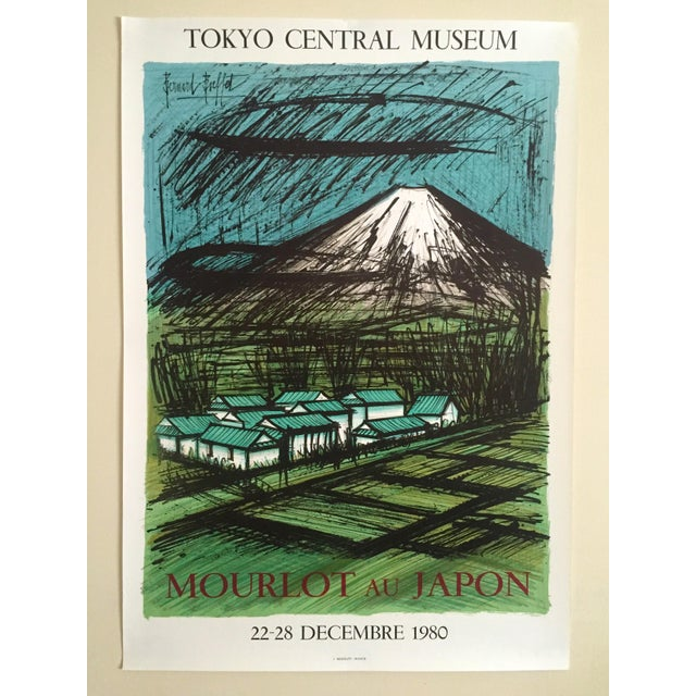"Bernard Buffet Rare Vintage 1980 "" Mourlot Au Japon "" French Lithograph Print Exhibition Poster For Sale - Image 12 of 12"