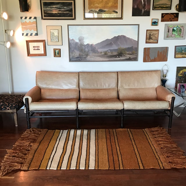 Mid-Century Handwoven Rug - Image 4 of 8
