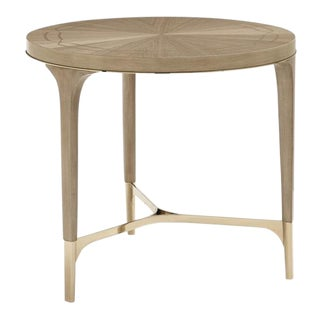 Organic Modern Caracole Slice of Pi Round End Table For Sale