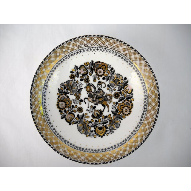 Blue Steinbock Austria Porcelain Wall Plate For Sale - Image 8 of 8